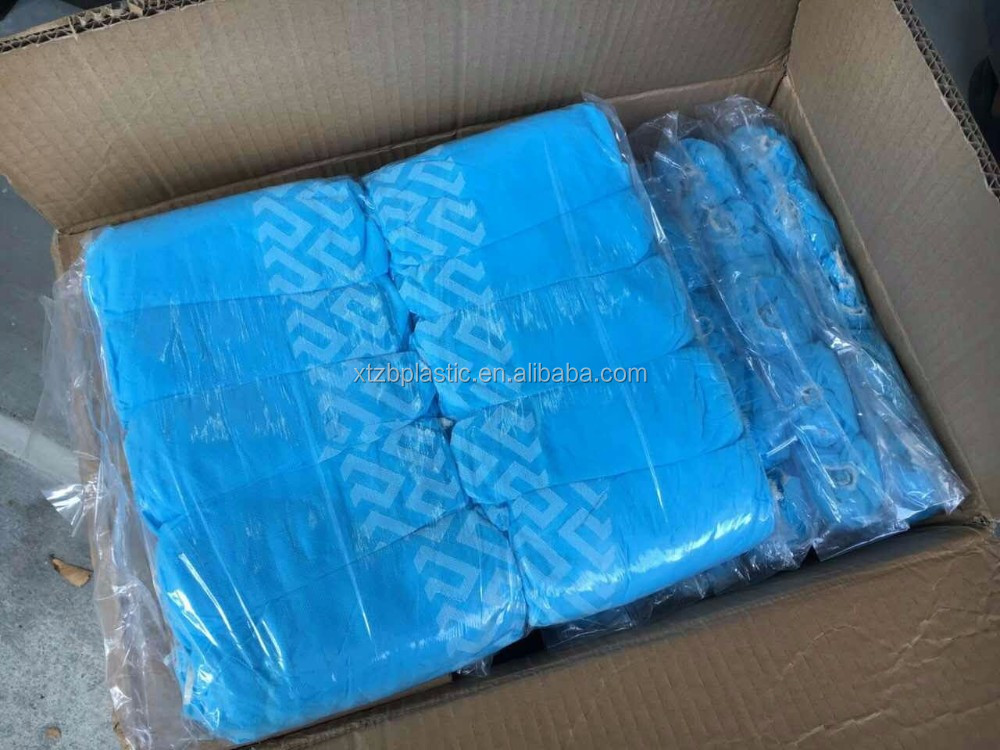 Waterproof disposable hand made pp+cpe non woven anti-skid shoe cover