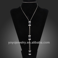 2014 new design gold custom logo fashion long chain necklaces