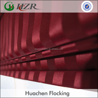High Quality Vertical Stripe Pattern Foam Back Coated Blackout Fabric