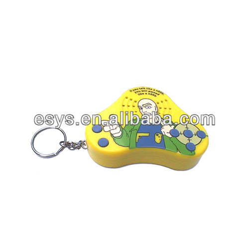Digital sound voice recording square music keychain