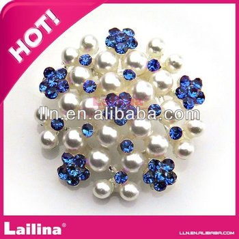 rhinestone button with pearl