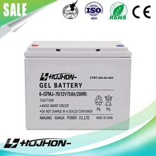 High quality 12v 75ah GEL lead acid battery with long life
