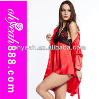 Sexy valentine lingerie fashion new red elegant fancy night gowns baby doll 3 pcs wholesale
