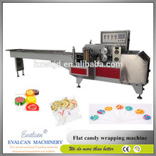 Good flow packing wrapping machine for candies / flat lollipop