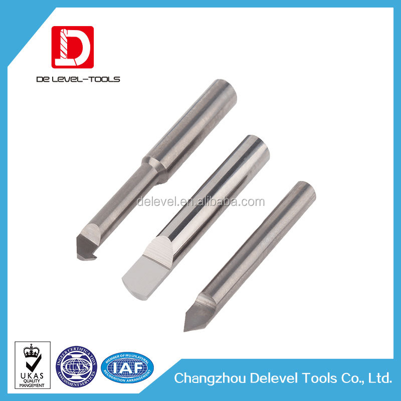 Changzhou Delevel Tungsten Carbide V Groove Cutter / V Groove End Mill / V Groove Milling Cutter