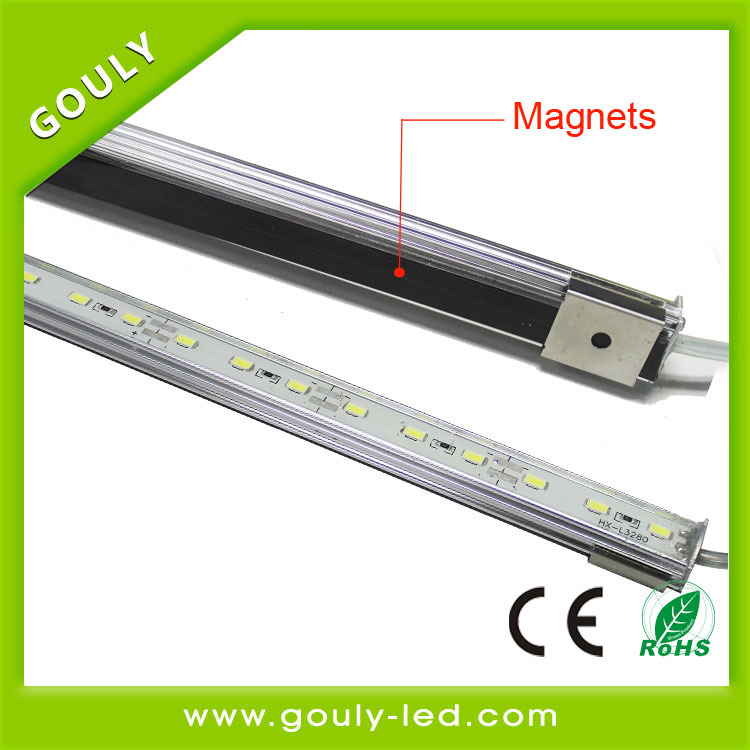 china new product led rigid bar ,aluminium profile led strip bar magnets lighting