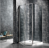 corner square pivot free standing glass shower enclosure