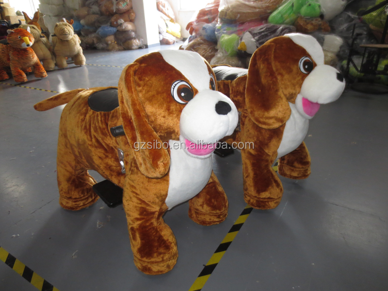 GM5915 Newly Design Coin Operated Motorized Plush Riding Animals For sale