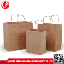 Home collection packing handle paper shopping bag logo, custom die cut kraft paper bag