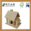 Handmade small pine practical unfinished garden wooden bird house
