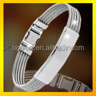 Funky stainless steel bracelet with five wireropes nickel free best gift