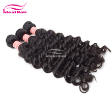 Virgin unprocessed fa human hair, top grade hj hair weave, without fake hair ponytail