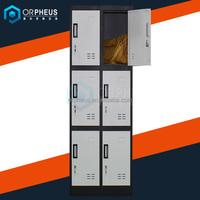 Black Door 2 Wide 3 High Metal 6 Compartment Metal Clothes Amazon Locker