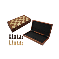 Wooden Checkers Board Game Backgammon set
