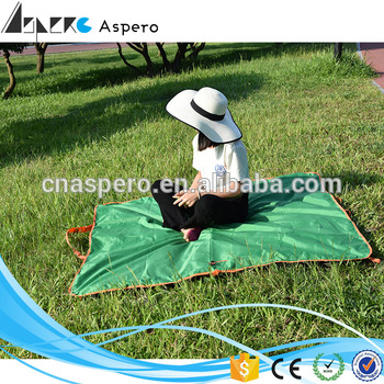 New arrived Outdoor miscato inflatable camping Folding waterproof Picnic mat compact Sleeping Pad outdoor camping mat for adult