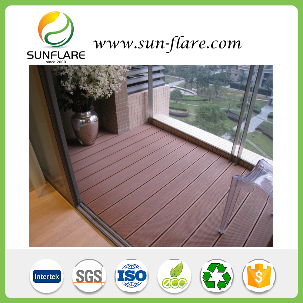 New Fashional Building Project WPC outdoor decking High quality Solid decking waterproof Anti UV