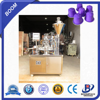 Automatic liquid cup water cup rotary filling and sealing machine