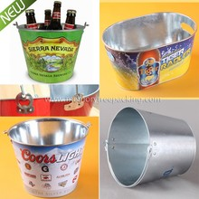 5QT 5L logo printed galvanized metal beer bucket