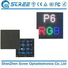 Smd RGB P6 outdoor fixed rental led display screen video wall panel billboard module