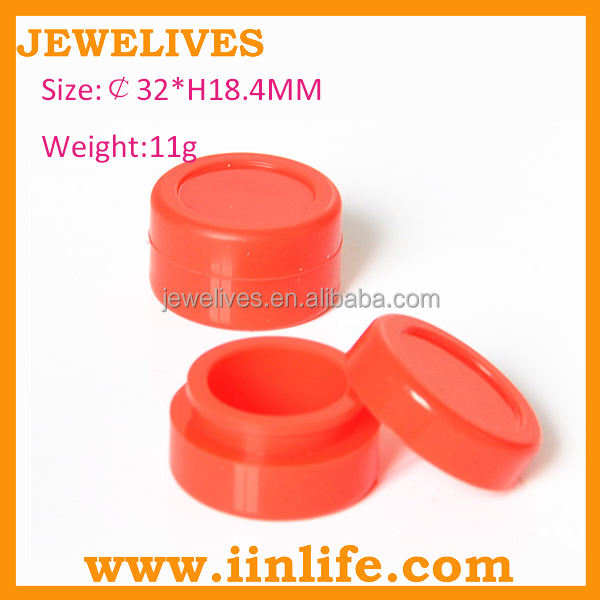 Novelty business ideas promotion gift silicone jars dab wax container