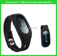 with sleep monitor function Bluetooth 4.0 water proof Activity Tracker wristband pedometer