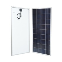 dc 12v 140w solar panel with MC4 connector and frame