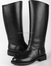 37.5cm Mens Leather long canister boots knee boots