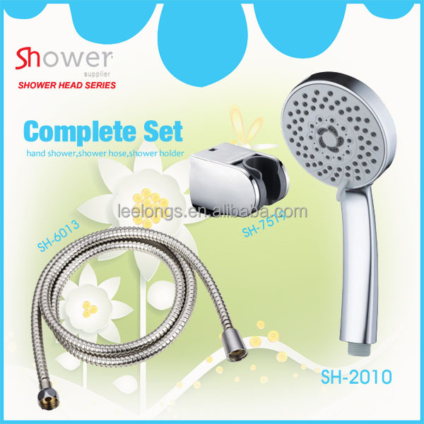 SH-2010-6002 Leelongs Round Chromed Flower Three Functional Bath Head Shower Plastic