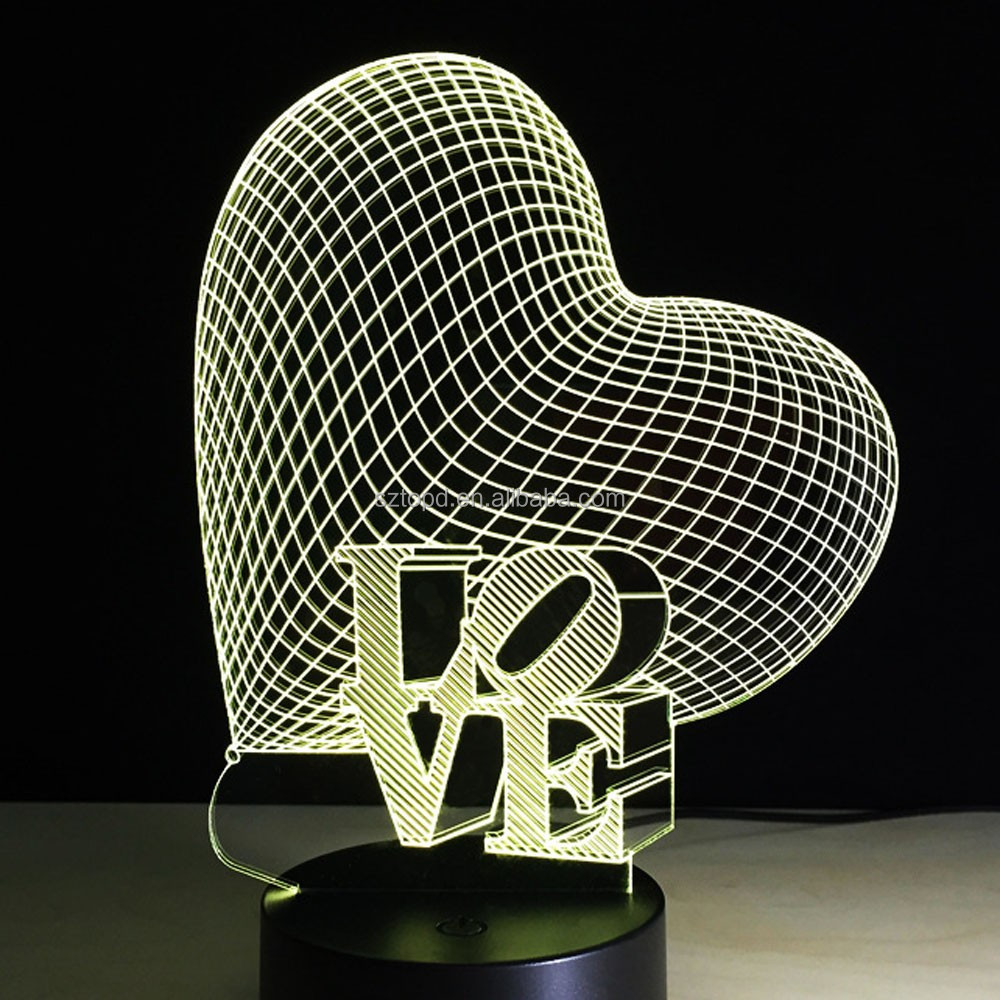 2017 Hot 3D Led Night Light USB Touch Switch Table Lamp Luminaria Home Decor Gift