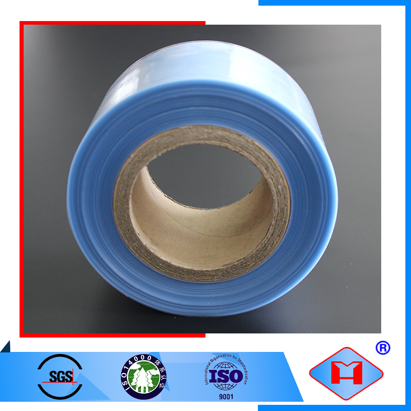 Accept custom order high gloss semi tube film pvc shrink film