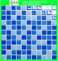 MSH4003 blue swimming pool mosaic glass tile