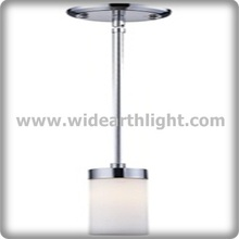 UL CUL Listed Nickel Finished Mini Hotel Restaurant Hanging Lamps With Glass Shade C50302