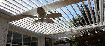 adjustable louver roof pergola for outdoor