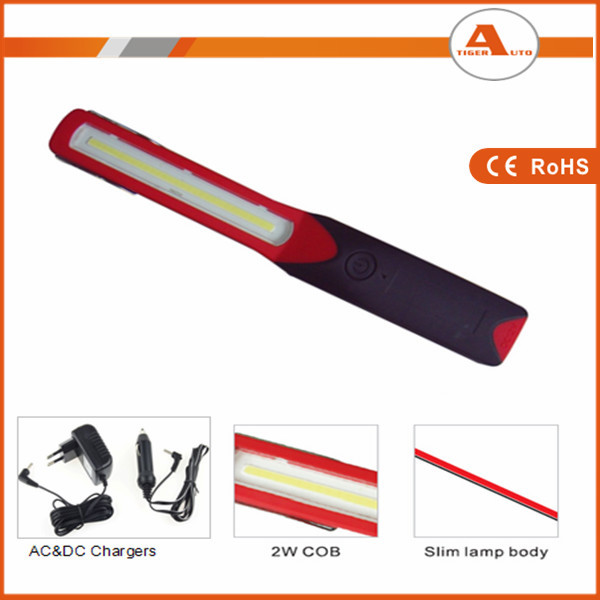 Cordless Rechargeable 2W COB 120LM LED Slim Body Work Light Car Inspection And Repairing Lamp