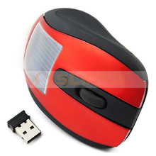 Outdoor Travel Laptop 1200 DPI Resolution Wireless Solar Mouse