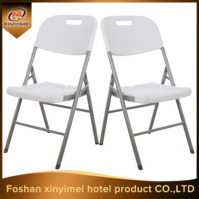 Cheap price white outdoor plastic collapsible chair
