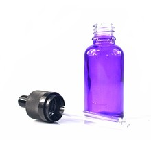 Empty hot sale 10ml violet glass perfume bottle