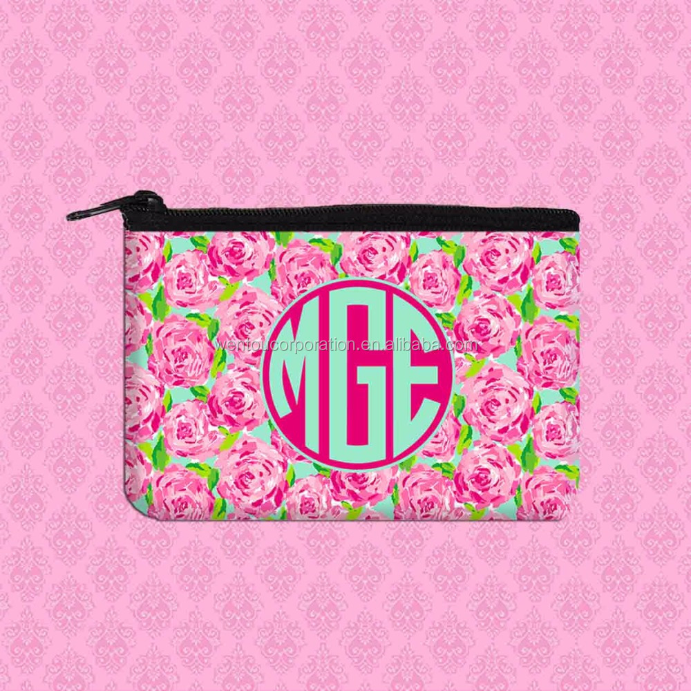 Lilly Pulitzer Inspired Monogram Coin Purse Wallet