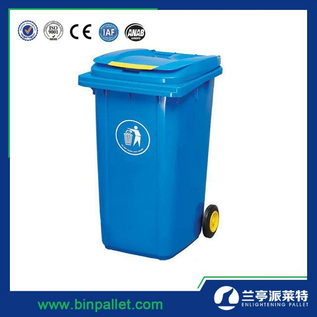 2 Wheeled Trash Can 240L Plastic Outdoor Garbage Bin