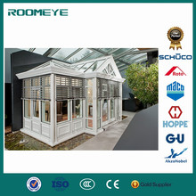 ROOMEYE double tempered glass curved conservatory sunroom designs