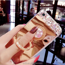 Mirror metal electroplated bolish mirror make up <strong>protect</strong> surface phone case for iphone7 plus 5.5 inch soft phone case cover