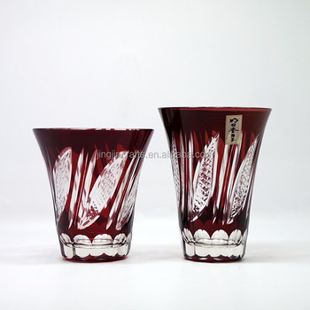 Japanese Edo Kiriko Water Glass Cup