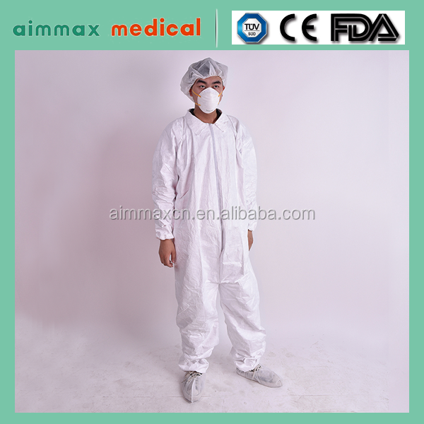 PP SMS SF disposable personal protective clothing coverall /Disposable nonwoven SMS