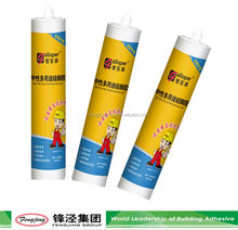 Factory Sale 240ml black adhesive cheap silicone sealant with many colors