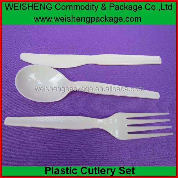 eco-friendly Portable Travel Cutlery set/Set Food grade cutlery set/disposable plastic cutlery