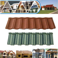 low cost good quality colorful stone coated steel rainbow roofing tile