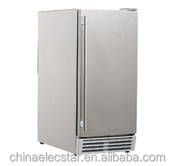 Built-in or Free Standing outdoor Ice Maker with 12 kg Storage Capacity, 25 kg Clear Cube Ice Production, Ice making machine