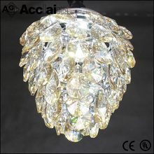 2016 Chinese hot sell flush mount art luxury amber expensive crystal chandelier