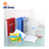 PVC plastic file folder binder with 3 ring, 3 hole presentation folder
