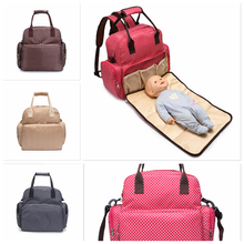 New Design large capacity portable muti-functional cute bag diaper backpack with baby changing pad on promotional